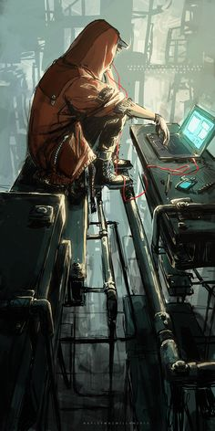 MTL Writer, daydreamer and resident cyberpunk. The brain that collates this visualgasm also assembles words into post-cyberpunk dystopia: my writing Check out my Ko-fi page! Arte Cyberpunk, Cyberpunk Anime, Animes Wallpapers, Fan Art, Shadowrun, Sci Fi Art, Concept Art Sci Fi, Amazing Art, Awesome