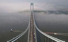 nice United States. Verrazano-Narrows Bridge. The main span - 1298 m. (Metropolitan Transportation Authority of the State of New York)