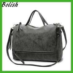 Cheap vintage messenger bag, Buy Quality brand women bag directly from China fashion women bags Suppliers: Bolish Brand Fashion Female Shoulder Bag Nubuck Leather women handbag Vintage Messenger Bag Motorcycle Crossbody Bags Women Bag Tote Handbags, Cross Body Handbags, Leather Handbags, Crossbody Bags, Leather Bag, Satchel Bag, Backpack Purse, Leather Tassel, Leather Crossbody