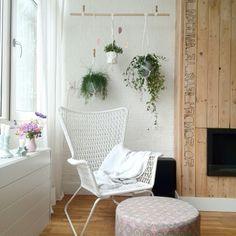 Hogsten IKEA chair. Urbanjungle planthangers. Styling by Buitenleven in de Binnenstad.