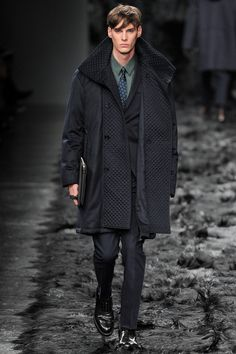Fendi | Fall 2014 Menswear Collection | Style.com All of this is wonderful. Great shade of blue.