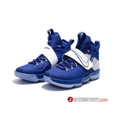 huge discount c6edf f2d45 Newest 2017 Nike LeBron 14 Sport Blue White Men s Basketball Shoes Online  Shopping