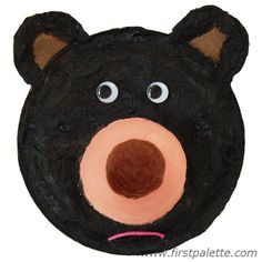 Fuzzy Paper Plate Bear Craft | Kids' Crafts | FirstPalette.