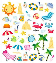 Beach > At The Beach Stickers: Stickers Galore