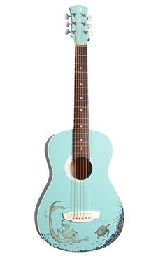 18 Decorative Acoustic Guitars: This would be a fun project for our kid-size guitar kids-toys-and-books Acoustic Guitar Tattoo, Acoustic Guitar Case, Guitar Art, Guitar Songs, Cool Guitar, Guitar Tips, Guitar Lessons, Arte Do Ukulele, Guitar Fender