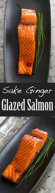 Sake ginger glazed salmon! Salmon marinated in a Japanese yakitori ...