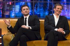 Taron Egerton and Colin Firth @ITV The Jonathan Ross Show