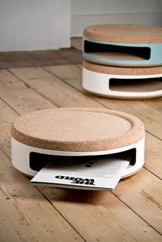 collection of furniture made of cork created by Belgium-based studio TwoDesigners