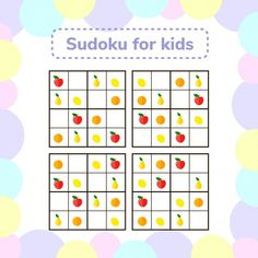 Sudoku game for children with pictures. ...   Premium Vector #Freepik #vector #kids #puzzle #game #learning Rebus Puzzles, Logic Puzzles, Color Activities For Toddlers, Toddler Activities, Puzzles For Kids, Worksheets For Kids, Visual Perceptual Activities, Vegetable Cartoon, Cartoon Sea Animals
