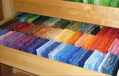 Two 120-Yard Stash Drawers by athomesewing, via Flickr Ikea PAX closet components