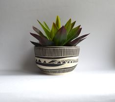 H O K U S A I ||  tazón de cerámica tribales jardinera
