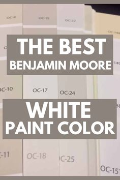 White Dove OC-17 is one of the best-selling and most popular white paint colors by Benjamin Moore. It's the perfect off-white paint color for kitchen cabinets, trim, interior walls, and the exterior of the home. #paintcolors #painting #interiordesign Most Popular Paint Colors, Best Paint Colors, Wall Paint Colors, Interior Paint Colors, Interior Walls, Interior Design, Off White Paint Colors, Matching Paint Colors, Off White Paints