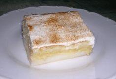 Co budeme potřebovat: Na piškot: 4 vejce, 1 vanilka, 1 prášek do pečiva, 1 dl vody, 1 dl oleje, 200g moučkového cukru, 200g hladké múky Náplň: 1 l mléka, 2 smetanově -vanilkové pudinky, 1 vanilka, 4 lžíce krystalového cukru. Poleva:3 (resp. i 4) kyselé smetany, 5 lžic moučkového cukru a 1 vanilka. Postup přípravy: Nejdříve … Czech Recipes, Ethnic Recipes, Eastern European Recipes, Sweet Bar, No Cook Desserts, Thing 1, Vanilla Cake, Sweet Recipes, Tiramisu