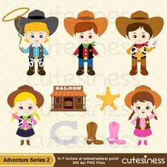 Cowboy Digital Clipart Cowboy Clipart Cowboy Clip by Cutesiness