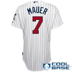 Minnesota Twins Authentic Joe Mauer Home Cool Base Jersey Minnesota Twins ef51e8703
