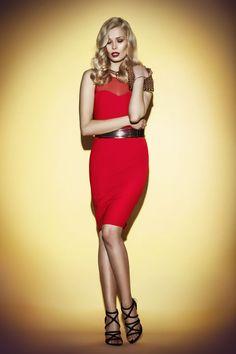 sexy red dress JO-LI