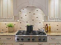 Mozaic Kitchen Stove Backsplash-Ideas With Ornamental Plants
