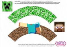 INSTANT DOWNLOAD  Minecraft Cupcake wrappers by PartyHeadquarters, $9.99