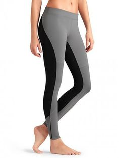 Athleta Women's Homestretch Run Tight Cobblestone Grey Black Pants | Clothing