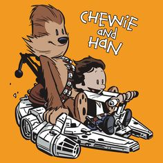 Brian Kesingers Force Awakens x Calvin & Hobbes. (via DJ Food) Hier nochmal das alte 2008er Original C&H-StarWars-Mashup von Chris Wahl: