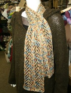 Free Pattern: Arrowhead Lace and Cable Scarf Knitting Pattern from Jimmy Beans Wool