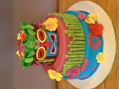 Tiki Luau Cake