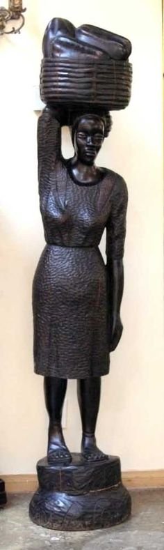 Haitian wood carving...beautiful craftsmanship!