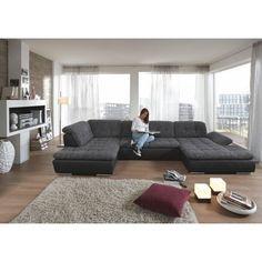 WOHNLANDSCHAFT in Grau Textil - Polstermöbel - Polstermöbel, Sofas & Sessel - Wohn- & Esszimmer - Produkte