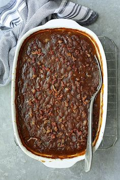 Kicked-Up Canned Baked Beans is an easy and delicious way to make ordinary canned baked beans taste as though you made them from scratch! #beans #bakedbeans #sidedishes #beansidedishes Canned Baked Beans, Recipe Please, Original Recipe, Serving Size, Casserole Dishes, Side Dishes, Bacon, Cooking, Breakfast