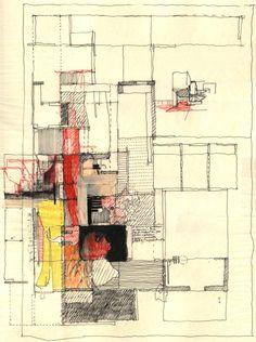 Estudio Teddy Cruz. Drawing for Casa Familiar: Living Rooms at the Border and Senior Housing with Childcare. San Ysidro, California. via
