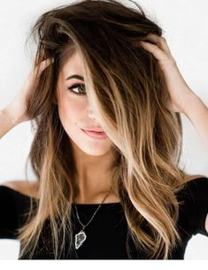 Natural morning look Ombre Hair Color Water Spring Hairstyles, Pretty Hairstyles, Short Hairstyles, Long Brunette Hairstyles, Wedding Hairstyles, Hairstyles Videos, Weave Hairstyles, Brown Blonde Hair, Black Hair
