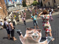 White people & Rory throwing gang signs at the Spanish Steps, Rome. #wheresrory @TheBloggess
