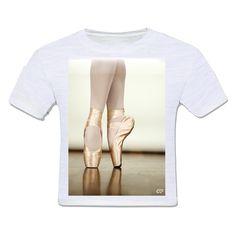 camiseta infantil moda criança balet balé dança sapatilha ponta bailarina