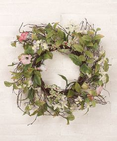 """Take a look at this 22"""" Country Meadow Wreath by Welcome Easter: Door Accents on @zulily today!"""