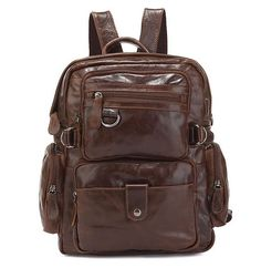 ModernManBags.com - Liverpool Mens Vintage Leather Convertible Backpack