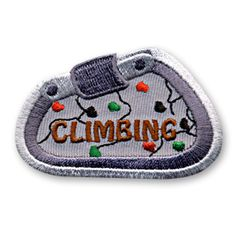 1 3/4 x 2 1/2 Inches **IRON-ON backing for easy & Snappy application** Our Climbing fun patch is the perfect way to commemorate the fun memories made during your troop or youth groups next climbing trip. http://www.snappylogos.com/Climbing-Fun-Patch/productinfo/3113/