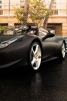 Ferrari 458 LOVE the flat black!