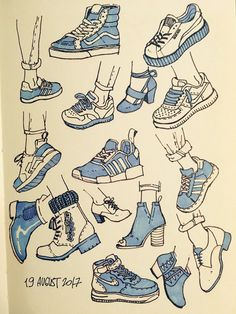Sneakers drawing sketches design reference ideas for 2019 Drawing Reference Poses, Drawing Poses, Design Reference, Drawing Tips, Drawing Hair, Drawing Ideas, Drawing Drawing, Hand Reference, Hair Drawings