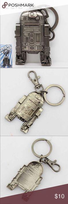 R2D2 Key Chain Silver Metal Heavy Duty Star Wars R2D2 Keychain Star Wars Accessories Key & Card Holders