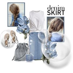 Denim SKIRT by marinadusanic on Polyvore featuring VILA, Witchery,  Abercrombie   Fitch, Warehouse, Sif Jakobs Jewellery and Pencey b2a7234c9c