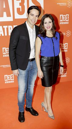 Ruth Nunez and Alejandro Tous attend the new Tv channel presentation A3Series on December 15 2015 in Madrid Spain