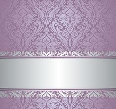 Purple floral ornament pattern backgrounds vector 01