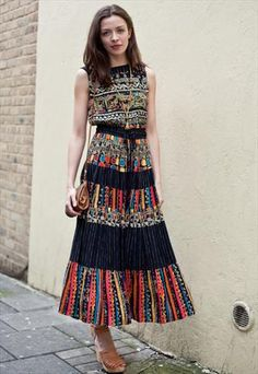 Vintage Mexican dress + wedges