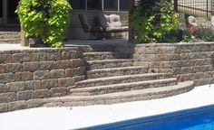 Product descriptions and specs for AB Europa Collection retaining wall blocks. Size and weights of AB Dover, AB Palermo, AB Barcelona, and AB Bordeaux Retaining Wall Blocks, Retaining Walls, Outdoor Stairs, Palermo, Landscaping, Abs, Patio, Garden, Outdoor Decor