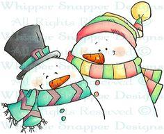 Bestie Snowmen - Snowmen Images - Snowmen - Rubber Stamps - Shop