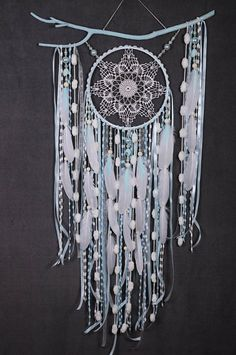 Dreamcatcher Mint Dream Catcher Large Dreamcatcher New Dream сatcher gift idea dreamcatchers boho dreamcatcher wall handmade idea gift mint for example - production time 3-5 days ******************************************* a natural branch can have a different shape - an approx