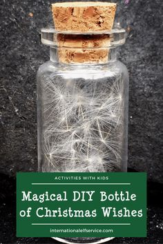 Create a magical bottle of Christmas wishes a great activity to do with kids over the Christmas holidays. Also the perfect accessory for your Elf on the Shelf ideas. Christmas Fairy, Family Christmas, Christmas Wishes, Christmas Holidays, Christmas Crafts, Christmas Activities For Kids, Crafts For Kids, Elf Letters, Dandelion Clock