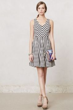 Striped Day Dress / Anthropologie