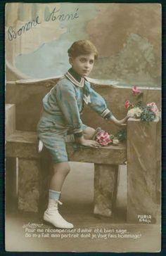 Small Edwardian Boy In Sailor Suit Original British Postcard Vintage Pics Pinterest