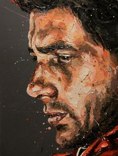 Ayrton Senna, what a legend. This painting by Paul Oz captures Ayrton so well.